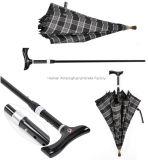 Adjustable Handle (SU-0023AAFH)를 가진 깨지지 않는 이중 목적 Walking Stick Umbrella
