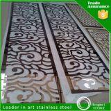 Les panneaux muraux en acier inoxydable accueil écran métallique Fabricants Partition de découpe laser couleur personnalisée