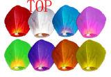 Biodegradable en línea fuegos de colores SkyLantern Flying boda linternas de papel chinas
