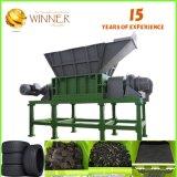 Shredder aprovado do eixo do dobro da capacidade elevada do GV para o recicl plástico