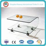 Verre trempé clair transparent à flot clair pour table