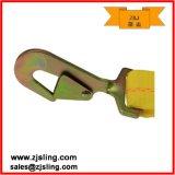 """A cinta da catraca com pressão Twisted engancha 2 de """" o amarelo X 20 '"""