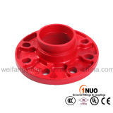 La bride Grooved d'adaptateur de fer malléable avec la norme internationale dimensionne (FM/UL/CE) la classe 150 de la norme ANSI Pn16