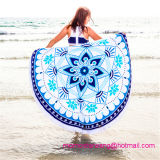 Toalla 100% de playa redonda del círculo del algodón de la venta al por mayor con alta calidad