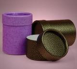 Контейнеры подарка цилиндра бумажные для порошка тела