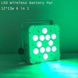 LEIDENE van de Controle 12*15W van de batterij het Draadloze Vlakke Licht van het PARI
