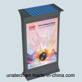 Via che fa pubblicità al contenitore chiaro posteriore solare esterno di batteria LED del blocco per grafici del tabellone per le affissioni di alluminio di Scrolling