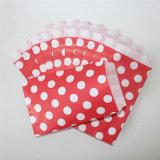 Ecológica punto grandes bolsas de papel rojo tratar de fiesta