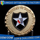 OEMの金の金属亜鉛合金の骨董品の挑戦記念品の硬貨