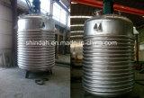 bobina del acero inoxidable 500-20000L que calienta el vaso de la reacción química