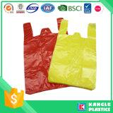 Sachet en plastique de supermarché de prix usine avec l'impression