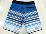 Do poliéster liso da cintura de Oeko-Tex Swimwear listrado do Short da placa dos homens