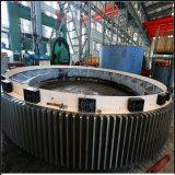 중국 최고 제조에서 시멘트 회전하는 킬른을%s 큰 둘레 기어