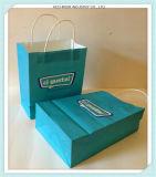 Sac blanc estampé par traitement en gros de papier d'emballage de papier de qualité