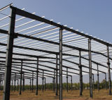 Fácil construir barraca pré-fabricada da oficina da estrutura do frame de aço de painel de sanduíche
