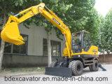 Parámetro técnico de los excavadores de la rueda de Baoding 8.5ton para la venta