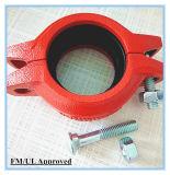 Acoplamiento del tubo ranurado de hierro dúctil con FM/UL/homologaciones CE