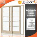 Раздвижная дверь подъема совершенной виллы Америка деревянная алюминиевая, алюминиевая раздвижная дверь стекла подъема твердой древесины Clading