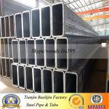 Tubo de acero rectangular Q235 Q345 Q195 de la casilla negra galvanizada y