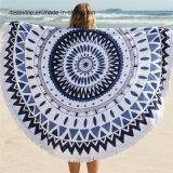 La fabbrica propri cotone di disegno arrotonda il tovagliolo di spiaggia