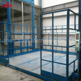 Elevación hidráulica del cargo del almacén de las mercancías del transporte de mercancías por ferrocarril de la plataforma vertical al aire libre y de interior del elevador