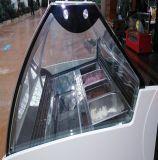 4mm 6mm de cristal curvado de color claro y escaparate para mostrar