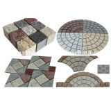 Paversのための自然なGrey/Red/Yellow Granite Cobble Paving Stone