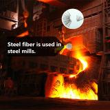Schlitz-Blatt-Edelstahl-Faser für feuerfestes Material