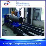 Découpage de flamme rond en acier de plasma de pipe et prix taillant Kr-Xy5 de machine
