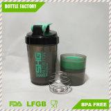 bottiglia dell'agitatore della proteina del ragno 500ml con la sfera dell'acciaio inossidabile