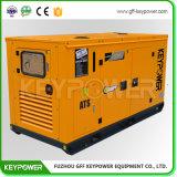 パーキンズ1104A-44tg2エンジンによって動力を与えられる80kVA防音のタイプのディーゼル発電機