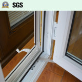 불안정한 자물쇠, 롤러 스크린 K02054를 가진 백색 UPVC 여닫이 창 Windows