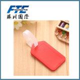 Бирка багажа PVC 3D высокого качества пластичная выдвиженческая