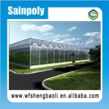 Sainpoly Fabrik-Preis-einzelnes Überspannungs-Gemüse-Gewächshaus