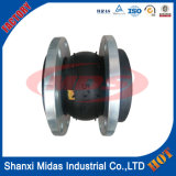 La alta temperatura DN200 sola esfera de goma flexible de dilatación
