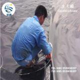 Operação de descarga de Geomembrane do HDPE do forro da lagoa do HDPE