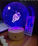 Lumière spéciale de nuit du cadeau 3D DEL, contrôle des couleurs 7