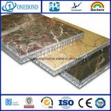 El panel de piedra con el panel de aluminio del panal para la decoración de la pared de cortina