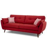 Sofà moderno del cuoio del tessuto della mobilia domestica