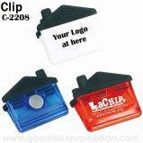 Clip plástico imán del refrigerador con impresión de la insignia