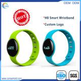 Wristband astuto di Bluetooth dell'inseguitore di forma fisica con il marchio stampato