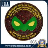 주물 아연 합금 빛난 사기질 금속 동전, 반짝임 사기질을 정지하십시오