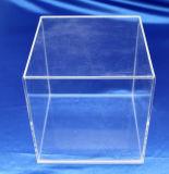 Personnaliser la boîte de présentation acrylique de mémoire de cas d'exposition clair de PMMA