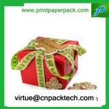 아름다운 색깔은 존재하는 리본 포장 종이 선물 상자를 주문을 받아서 만들었다