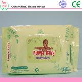 Wipe bagnato Spunlace di cura non tessuta economica del bambino di 80 PCS