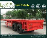 40 van 2axle voeten Aanhangwagen van de Container van Flatbed Semi
