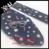 Poliéster personalizado impresso gravata reversível de dois lados do Natal