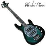 La musique Hanhai/vert foncé guitare basse électrique avec 4 cordes