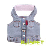Blue Jean Dog Jacket Denim Pet Vest Harness