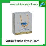 Bolsos impresos grandes decorativos del regalo del papel de Kraft del diseño de la vendimia con la maneta